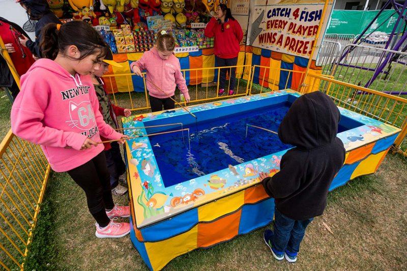 Kids playing fish