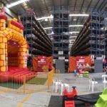 Camelot Castle inside giant warehouse