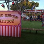 Sideshow Alley themed corporate christmas party with Shooting Gallery