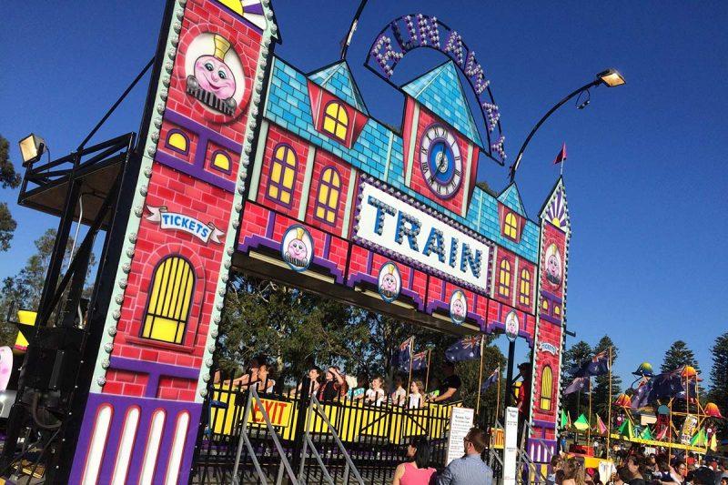 Runaway Train on sunny day