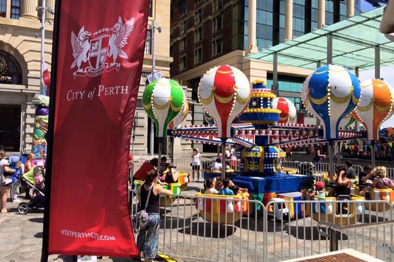 Fiesta Balloon in Forrest Place