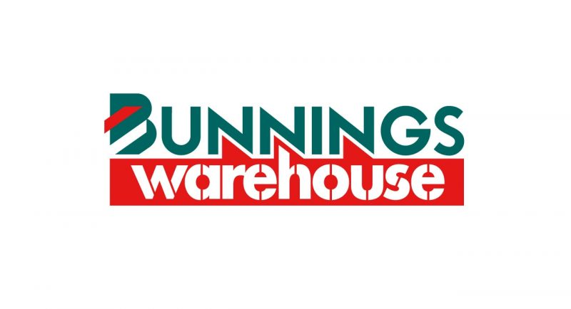 Bunnings Warehouse Logo Teal & Red