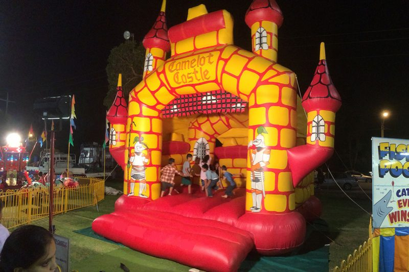 Camelot Castle with kids jumping