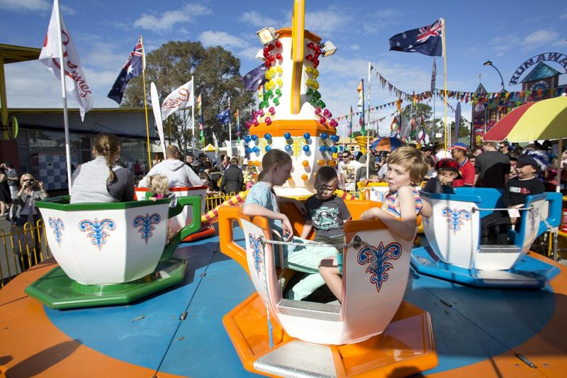 Teacup Ride at the Perth Royal Show