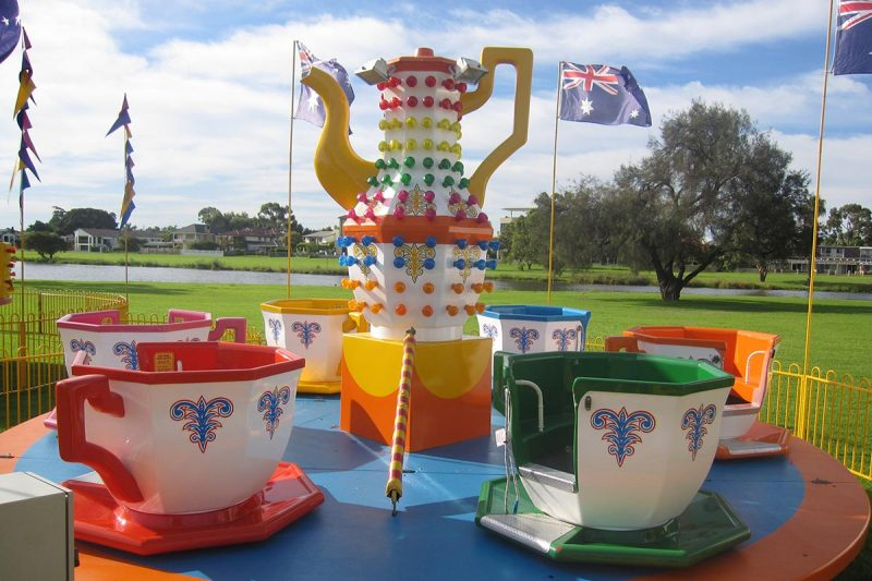 Tea Cups by the River