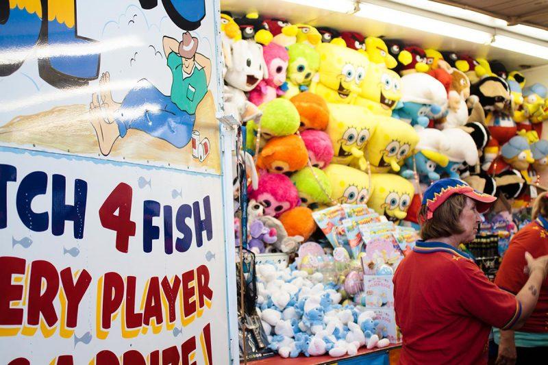 Prizes on fishing game