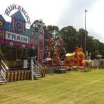 Rides lined up at Corymbia ready for the crowds