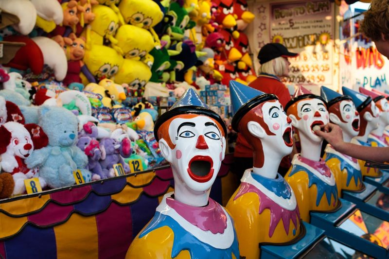 Clowns head moving
