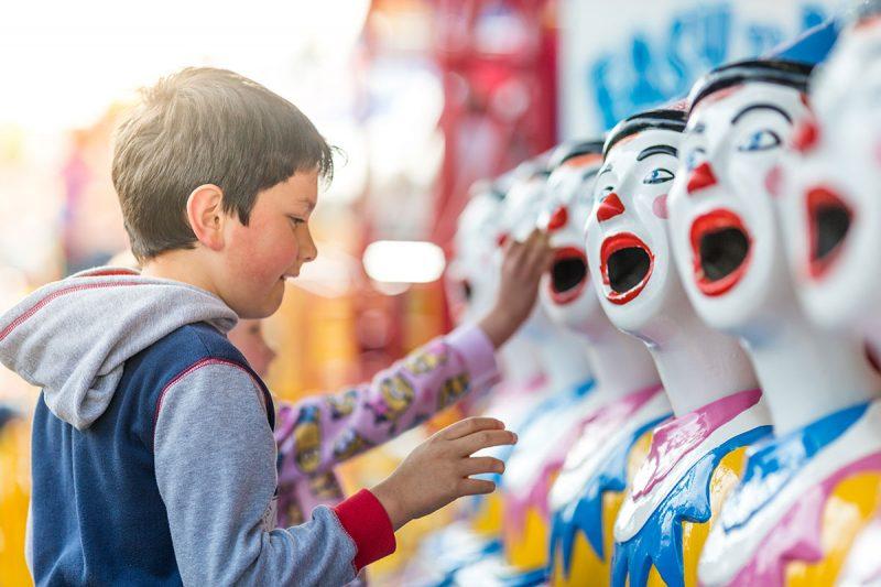 Kids playing clowns