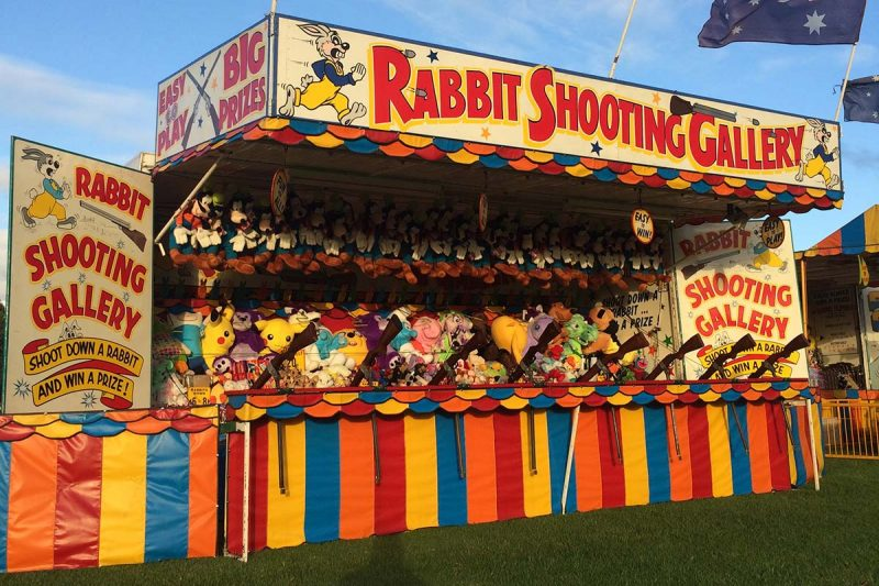 Rabbit Shooting Gallery up close