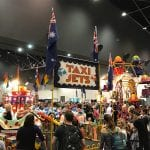 Inside Perth Convention Centre with rides