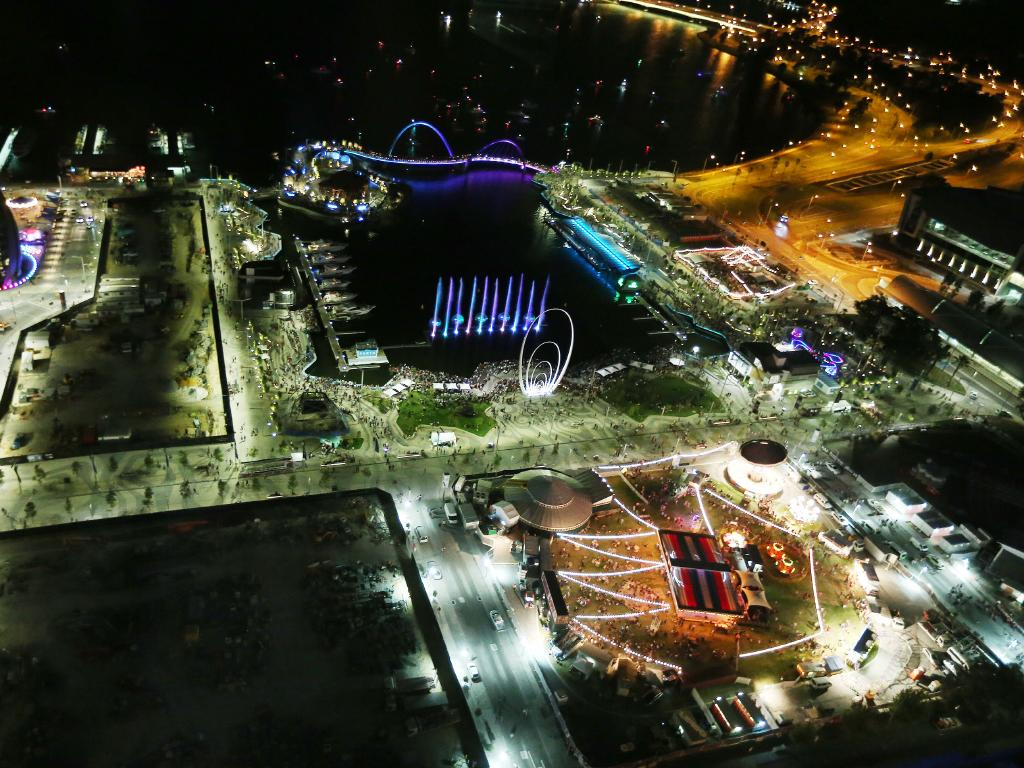 Full view of Elizabeth Quay opening