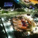 Fringe Fairground from birds eye view